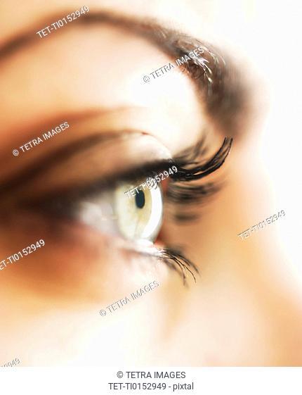 Studio close-up of woman's eye