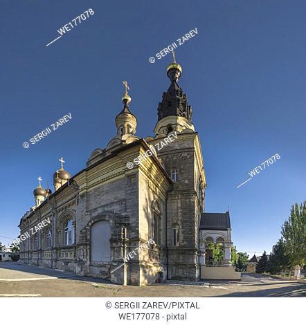 Nikolaev, Ukraine - 10. 06. 2018. Cathedral of the Kasperovsky Icon of the Mother of God in Nikolaev