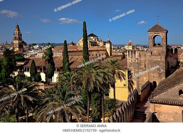 Spain, Andalusia, Cordoba, Historical Centre listed as World Heritage by UNESCO, Alcázar de los Reyes Cristianos, Alcazar of the Christian Monarchs' gardens