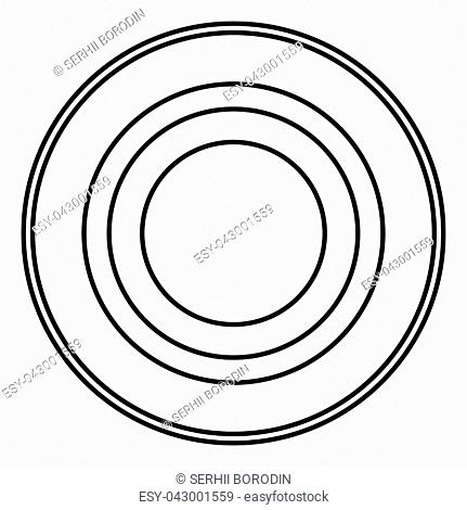 Radio signal symbol connect icon black color vector illustration flat style outline