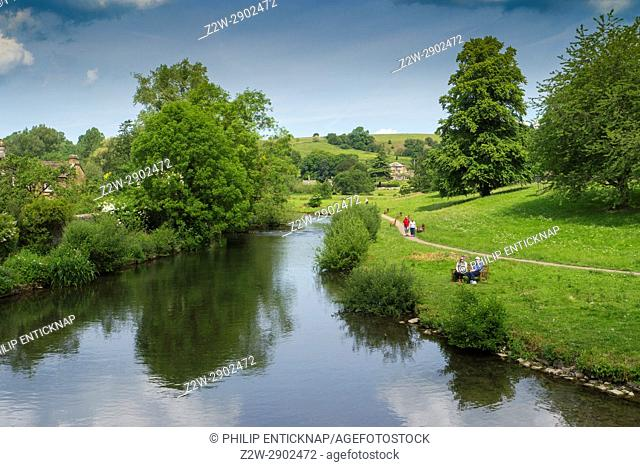 The River Wye at Bakewell, Derbyshire, England