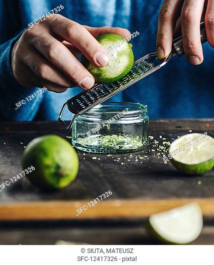 Zesting a lime