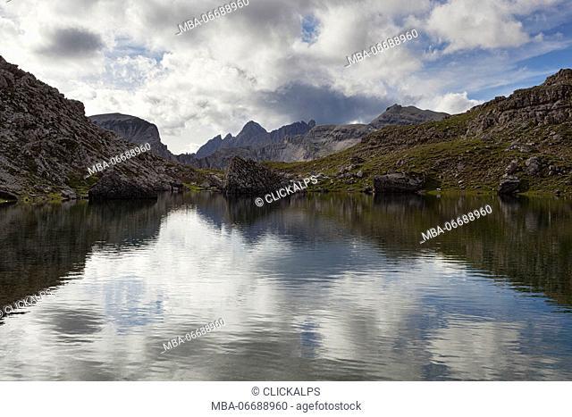 Crespeina Lake, Puez-Odle group, Dolomites, South Tyrol, Italy