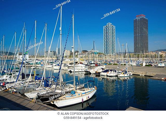 Spain, Catalunia Catalunya, Barcelona, Port Olimpic