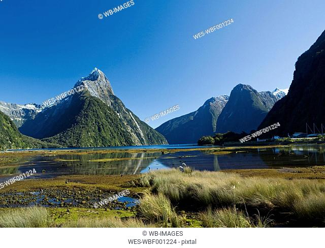 New Zealand, View of Milford Sound