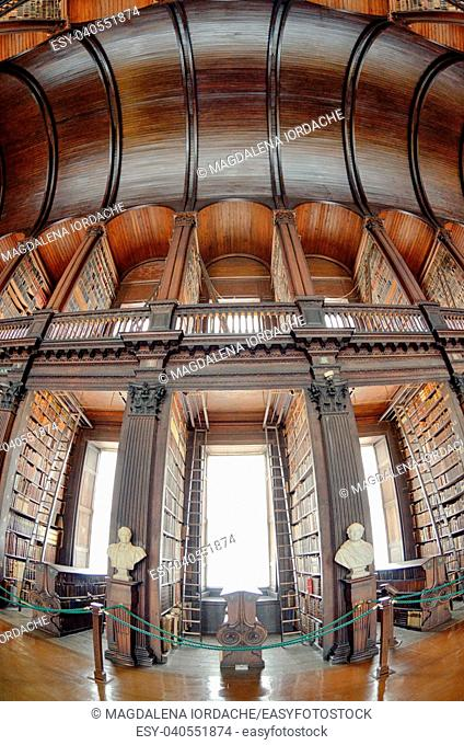 Fisheye photo of The Old Library, Trinity College, Dublin,17. 06, 2018