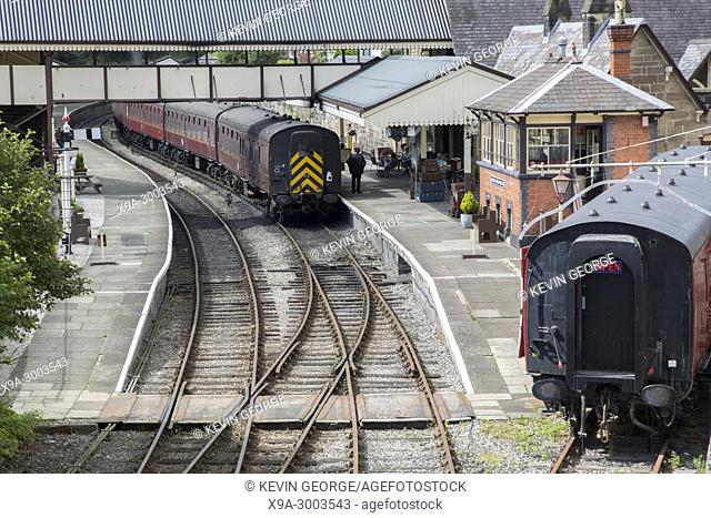 Heritage Railway at Llangollen Station, Wales; UK