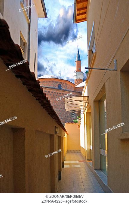 an old city, historical buildings, is in Plovdiv Bulgaria