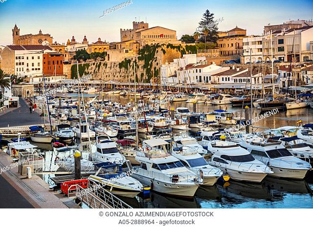 Port. Ciutadella. Minorca. Balearic Islands. Spain