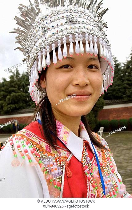 Bai woman in wedding dress, Dali, Yunnan province, China
