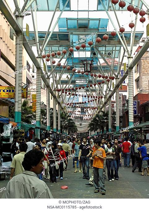 Jalang Petaling, the market in Chinatown, Kuala Lumpur, Malaysia