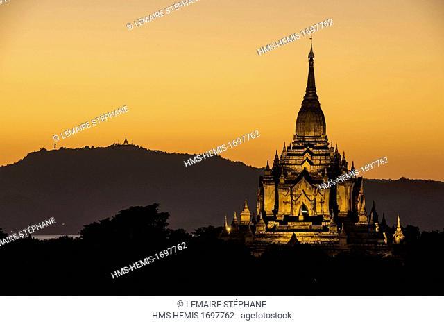 Myanmar (Burma), Mandalay division, Bagan, Old Bagan, Gautaukpalin temple