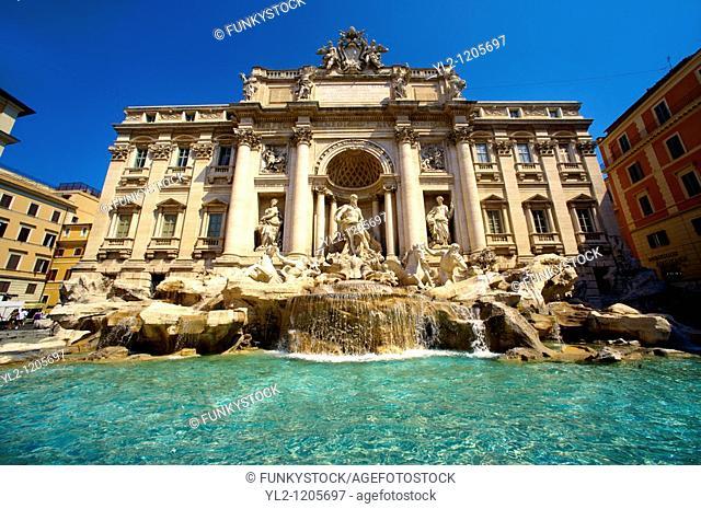 The Baroque Trevi Fountain  Rome
