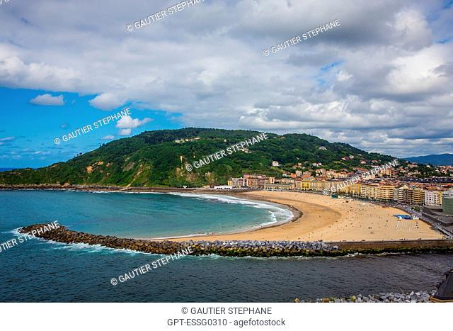 ZURRIOLA BEACH, SAN SEBASTIAN, DONOSTIA, BASQUE COUNTRY, SPAIN