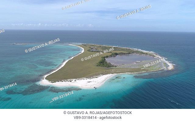 Aerial View island espenky los roques venezuela