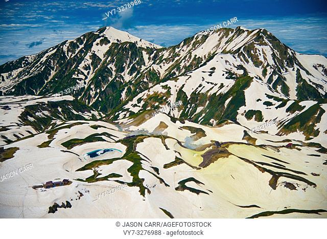 Tateyama mountains in Toyama, Japan. Toyama is one of the important cities in Japan for cultures and business markets