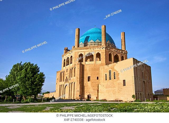 Iran, Zanjan province, Soltaniyeh, Oljeitu mausoleum, the Mongolian sultan of Ilkhanid Mongol era, Unesco World Heritage