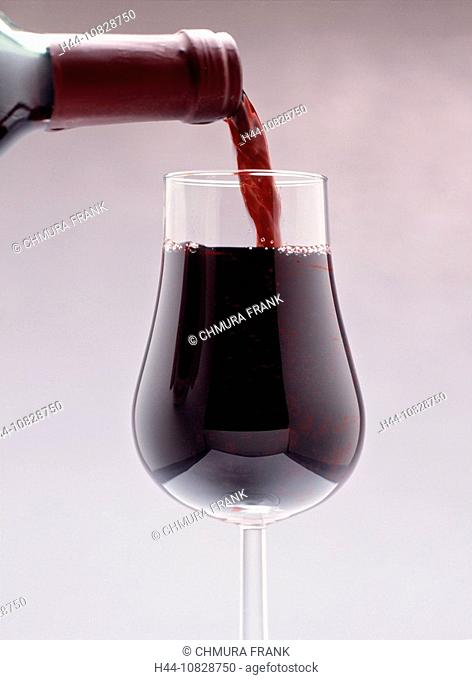 Bottle, Close up, Color, Colour, Drink, Drinks, Full, Glass, Glasses, Indoors, Interior, Nobody, Pouring, Red, Red win