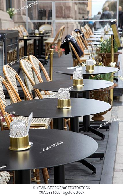 Cafe Table and Chairs, Stockholm, Sweden