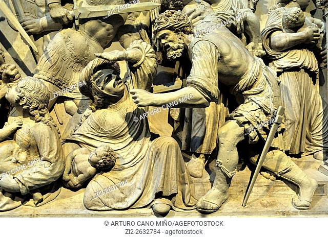 Massacre of the Innocents (detail), Retrochoir, Plateresque, XVIth century, the Cathedral. Avila, Spain