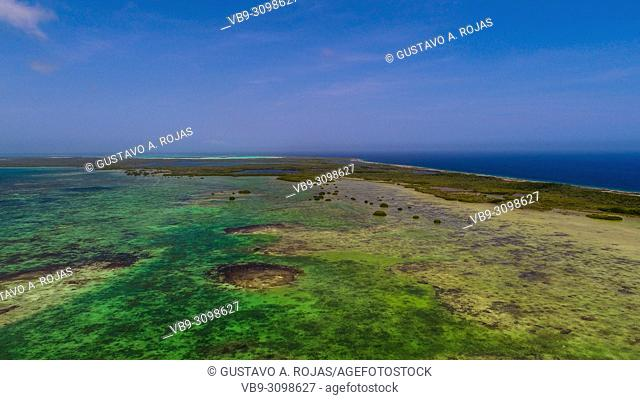 Aerial View, nube verde island, los roques venezuela