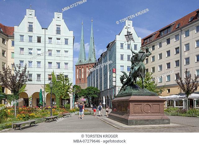 Berlin Nikolaiviertel, Berlin, Germany, Europe