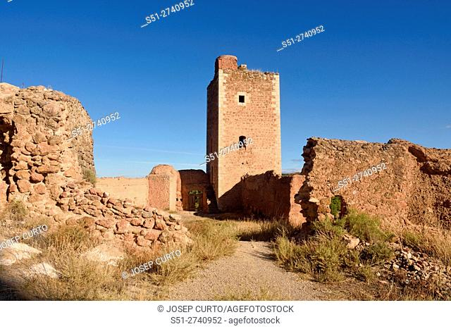 San Cristobal tower in the town walls of Daroca (XIV century) . Zaragoza province, Aragon, Spain