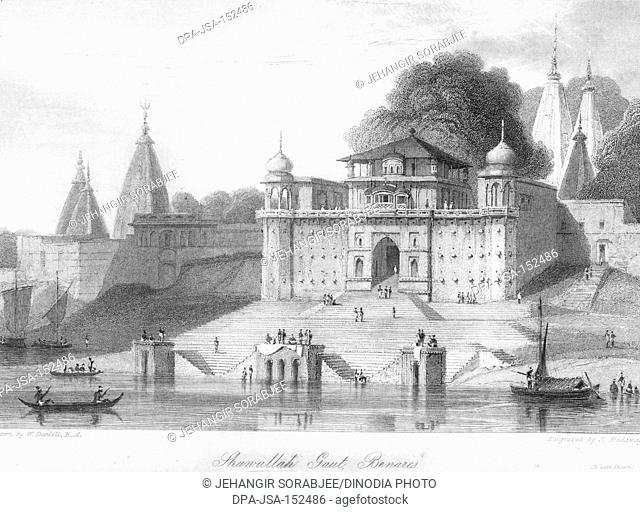 Jhunallah Gaut or ghat ; Benares ; Varanasi ; Uttar Pradesh ; India