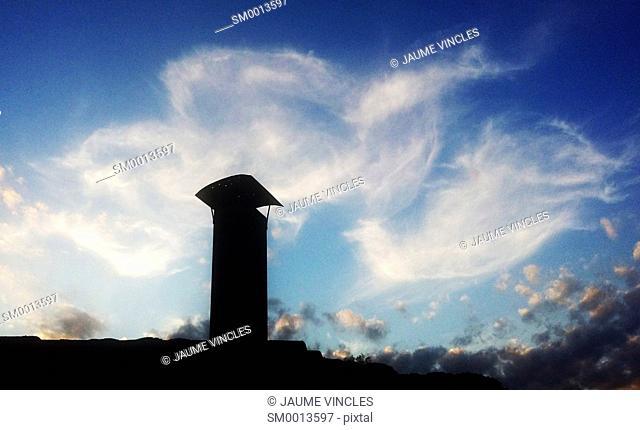 Chimney. Caldes d'Estrac, Maresme, Barcelona province, Catalonia, Spain