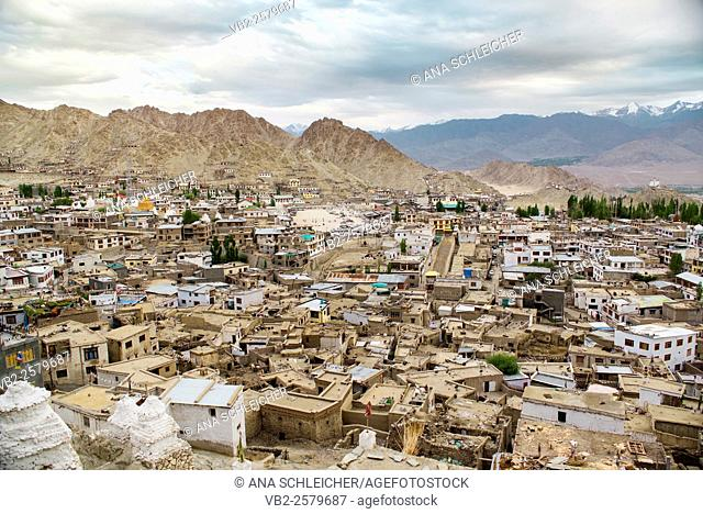 Choglamsar, a local non touristy neighbourhood of Leh (Ladakh, India). A crammed neighborhood of ancient houses with no garden