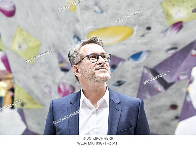Portrait of smiling businessman with stubble