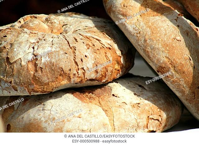 Large loaves of Galician bread, Spain