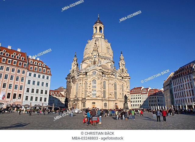 The Church of Our Lady in the Old Town of Dresden, Saxony, Germany