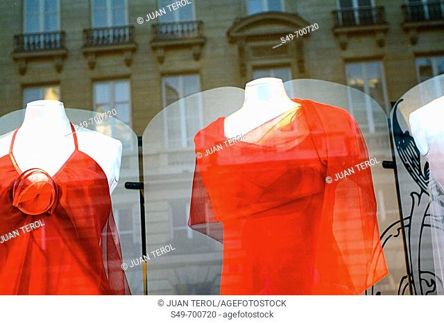Shop window in the Latin Quarter, Paris. France
