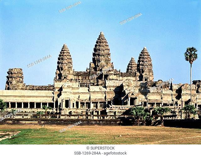 Facade of a temple, Angkor Wat, Cambodia