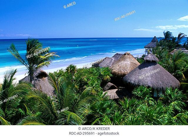 Beach of Sian Ka\'an, Riviera Maya, Yucatan, Mexico