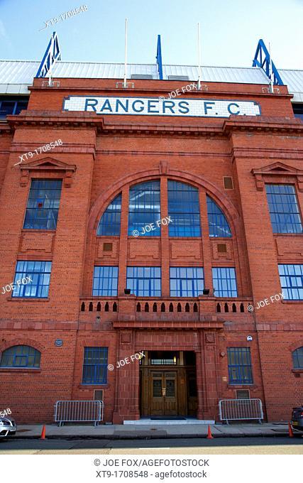 Ibrox stadium home ground to Glasgow Rangers FC Glasgow Scotland