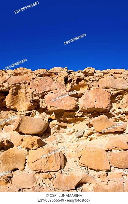 Tabarca Island battlement fort masonry wall detail
