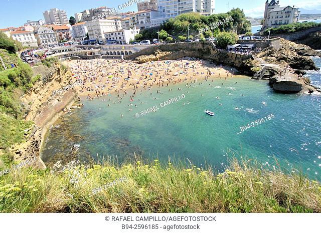 Biarritz beach, Bay of Biscay, Pyrénées-Atlantiques department, Aquitaine region, South Western France
