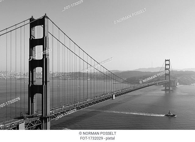 Golden Gate Bridge over San Francisco Bay, San Francisco, California