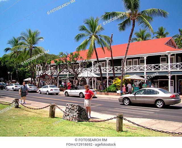 Lahaina, Maui, HI, Hawaii, West Maui, Historic Downtown, Pioneer Inn, shops