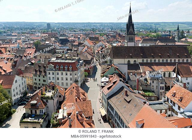 Constance, view of Münster over the old town