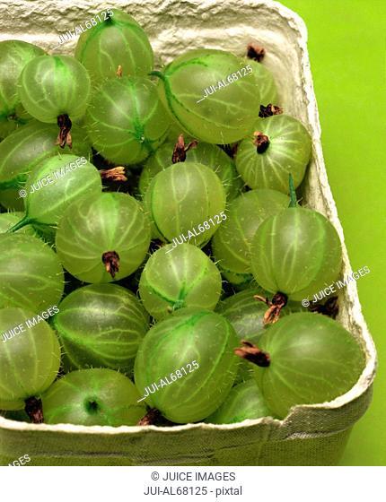 Gooseberries in a carton
