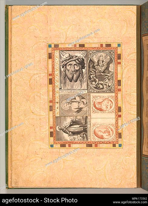 Six Devotional Subjects, Folio from the Bellini Album. Object Name: Illustrated album leaf; Date: ca. 1600; Geography: Attributed to Italy or the Netherlands;...