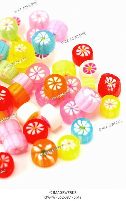 Multi colored candies, close-up