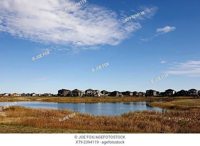 managed lakeland habitat area landscaped protected suburb saskatoon Saskatchewan Canada