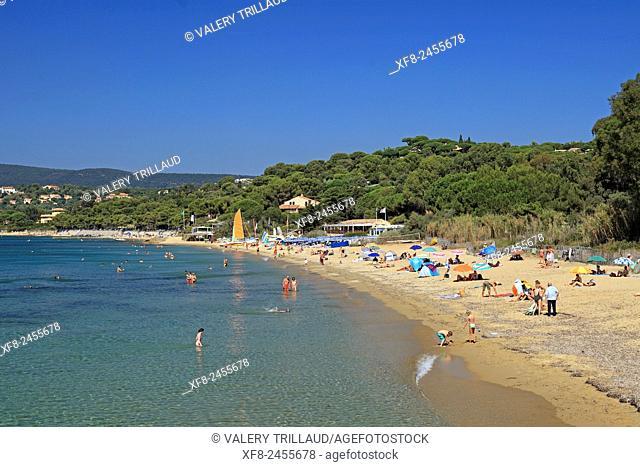 Gigaro beach around La Croix Valmer, Var, Côte d'Azur, French Riviera, France