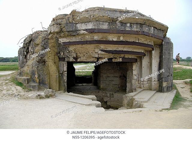 German bunker at Pointe du Hoc, Basse Normandie, France