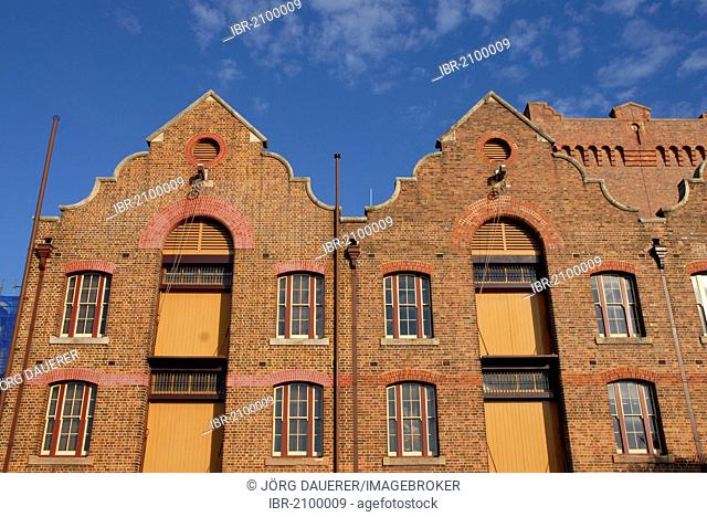 Brick buildings in The Rocks, the oldest part of Sydney, New South Wales, Australia