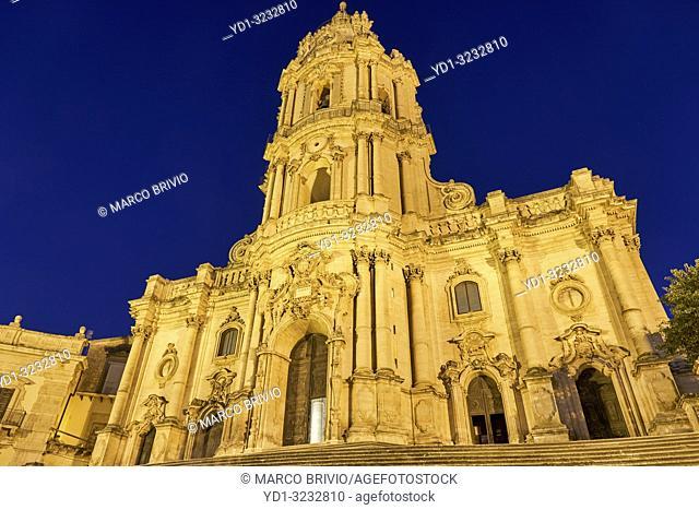 Duomo of San Giorgio Cathedral in Modica Sicily Italy